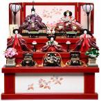 【雛収納3段5人飾】京番親王五寸官女:愛莉雛:平安翠泉作【雛人形三段飾】【収納飾】