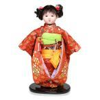 【市松人形】13号市松人形:正絹有松絞り衣裳【愛ちゃん】:草園作【雛人形】【浮世人形】【ひな人形】