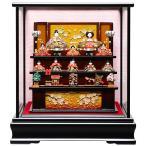【陶器雛人形】【雛人形】創作雛段飾りケース:伏見屋監修【陶器ひな人形】【桃の節句】