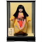 13号市松人形:西陣織【オカッパにリボン】:翠華作 ケース入り