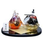 雛絵巻 夕凪(ガラスのひな人形)HINA EMAKI ガラス製