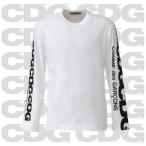 コムデギャルソン CDG  ロングTシャツ 長袖 Tシャツ ロンT ロゴT ホワイト 袖ロゴ メンズ COMME des GARCON com-21