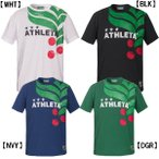 【ネコポス選択可】 アスレタ ATHLETA Tシャツ 半袖 メンズ カフェブラ ロゴ 03323 サッカー フットサル