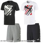プーマ PUMA 半袖 Tシャツ スウェット ハーフパンツ メンズ 上下セット キャット グラフィック Tシャツ 9インチ パンツ 581909/582820 サッカー フットサル