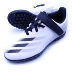 【即出荷】 アディダス adidas ジュニア マジックテープ ベルクロ FW9573  エックス ゴースト.4 TFJ サッカー トレーニングシューズ ホワイト×ブラック