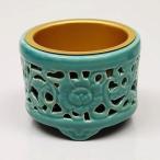 香炉 (お線香立) 仏具 透し香炉 (真宗大谷派・お東用)陶器 45