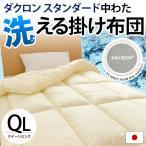 洗える布団 掛け布団 クイーン 日本製 インビスタ ダクロン スタンダードファイバーフィル ウォッシャブル掛布団