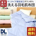ショッピング西川 羽毛肌掛け布団 ダブル ダウン85% ウォッシャブル羽毛肌布団 ダウンケット 東京西川 夏の羽毛布団