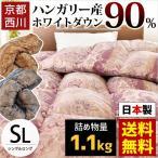 羽毛布団 西川 シングル ハンガリー産ダウン90% 1.1kg 日本製 抗菌 防臭 羽毛ふとん Bonica ボニカ