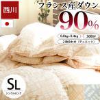 西川 羽毛布団 ランキング入り シングル ダウン90% 2枚合わせ 洗える