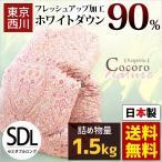 東京西川 羽毛布団 セミダブル ホワイトダックダウン90% 1.5kg 日本製 羽毛掛け布団 Kagerou かげろう