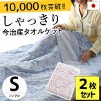 タオルケット 今治 シングル 2枚セット 日本製 ジャガード織 衿付きタオルケット