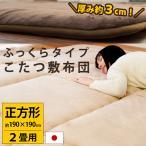 こたつ敷き布団 長方形 3畳 190×240cm 日本製 ふっくらボリューム 厚手ラグ セル