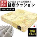 ショッピング西川 昭和西川 ムアツクッション 40×40cm 厚み7cm 日本製 正方形 ムアツ シートクッション 座布団
