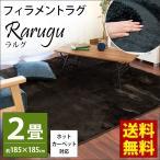 シャギーラグ 2畳 200×200cm 秋冬 ラグマット ホットカーペット対応 ふわふわシャギー マット モシェ