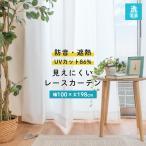 遮像レースカーテン 幅100×丈198cm 2枚組 遮熱 断熱 UVカット 防音 日本製 ガード