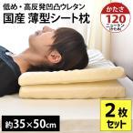 薄型シート枕 2枚セット 日本製 高反発 凹凸 体圧分散 まくら 35×50cm 高さ4.5cm