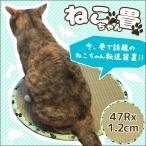 ねこちゃん畳 円形 約47R×1.2cm ひんやり い草マット 爪とぎ 猫ホイホイ 転送装置 敷物