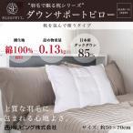 ショッピング西川 西川 ダウンサポートピロー ダウンピロー 50×70cm ダウン85% 詰め物重量:0.13kg 日本製 国内洗浄羽毛を使用  枕を中に挟む枕