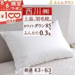 ショッピング西川 西川産業 東京西川 羽根まくら フェザーピローカセットCQ2003/43×63cm枕(大人サイズ)