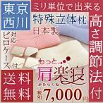 ショッピング西川 枕 まくら 日本製  西川 もっと肩楽寝枕 38×56cm  高さ調節・丸洗いOK+対応カバー付枕(大人サイズ)