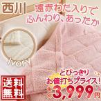 ショッピング西川 合繊肌掛け布団 シングル 東京西川 綿入り毛布 遠赤綿 西川産業シングル