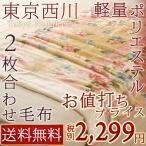 ショッピング西川 毛布 シングル 2枚合わせ ブランケット 西川 マイヤー毛布 東京西川シングル【送料無料】