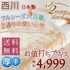 ショッピング西川 京都西川 シングル 綿100% タオルケット 日本製 フルーツケット ペイズリー柄 FF-8635シングル