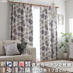 遮光カーテン 2枚組 幅100cm 高さ178cm カーテン