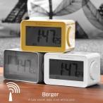 電波時計 置き時計 デジタル時計 自動時刻設定 自動補正 温度計付 目覚まし時計 アラームクロック 卓上時計 カレンダー付き 温度計 バックライト スヌーズ