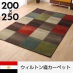 ウィルトン織 ラグ カーペット エジプト 絨毯 200×250 ウィルトン 3畳 じゅうたん マット 柄 おしゃれ オシャレ かわいい 抗菌 防臭 長方形 厚手 極厚
