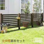木製 ボーダーフェンス スプレッド 土中用基本セット 送料無料 ラティス 目隠し フェンス ガーデニング 庭 犬 猫 ペット 柵 ウッド ゲート ルーバー 簡易 自立