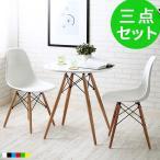 ダイニングテーブルセット 白 おしゃれ 北欧 木製 丸 ダイニングテーブル 2人 2人用 3点 カフェ 椅子