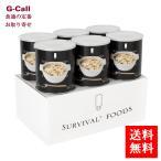 送料無料 超・長期保存食サバイバルフーズ 保存食  大缶 洋風とり雑炊(6缶セット)