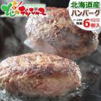 北海道 特選 ハンバーグ 6個セット(ソース付き) 北海道産 牛肉 和牛 お年賀 ギフト 贈り物 贈答 お礼 お返し 高級 北海道 食品 グルメ お取り寄せ