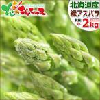 【出荷中】北海道産 グリーンアスパラ 2kg (共撰/秀品/極太/2Lサイズ) 緑 アスパラ アスパラガス ギフト 贈り物 野菜 北海道 グルメ お取り寄せ