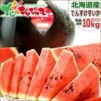 【予約】お中元 スイカ 果物 でんすけすいか 1玉 10kg (JA共撰/秀品/クール便) お中元 ギフト 贈り物 お礼 お返し 残暑お見舞い 北海道産 お取り寄せ