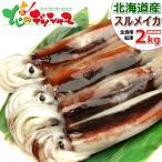 北海道産 スルメイカ(生冷凍/約2kg) いか イカ 生食・刺身・塩辛用 特大 2キロ 2017 夏 ギフト 贈り物 北海道 お取り寄せ
