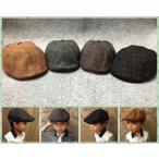チェック柄ハンチング帽  女の子 男の子 キッズ 帽子 キャップ ハンチング デニム 子供用 雑貨