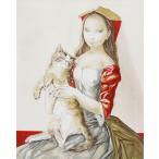 藤田嗣治 版画 名作『猫を抱いた頭巾の少女』