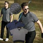 ポロシャツ メンズ 父の日 コットンニット スキッパー カットソー ゴルフ スポーツ グレイ ネイビー 300701 G-stage ジーステージ ゴルフウェア