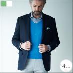 紺ブレ ブレザー ジャケット ビジネス 日本製生地 ウオッシャブル 2つボタン シングル テーラード ネイビー