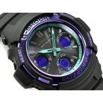 G-SHOCK レトロスポーツ CASIO 電波 ソーラー アナデジ 腕時計 ブラック パープル ターコイズ AWG-M100SBL-1AER AWG-M100SBL-1A 海外モデル 逆輸入