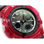 G-SHOCK CASIO 電波 ソーラー アナデジ 腕時計 レッド ブラック AWG-M100SRB-4AER AWG-M100SRB-4A 海外モデル 逆輸入