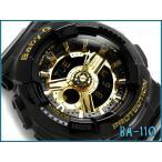 ベビーG BABY-G CASIO カシオ baby-g ベビーg アナデジ腕時計 ブラック×ゴールド ウレタンベルト BA-110-1ADR