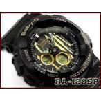 ショッピングbaby ベビーG Baby-G ベビージー スクラッチパターン 逆輸入海外モデル カシオ CASIO アナデジ 腕時計 ブラック ゴールド BA-120SP-1ADR BA-120SP-1A