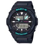 BABY-G ベビーG ベビージー G-LIDE ジーライド カシオ CASIO アナデジ 腕時計 ブラック ターコイズ BAX-100-1AJF 国内正規モデル