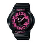 ショッピングbaby ベビーG Baby-G カシオ CASIO ネオンダイアルシリーズ アナデジ 腕時計 ピンク ブラック BGA-130-1BJF