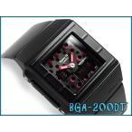 ベビーG BABY-G CASIO カシオ baby-g ベビーg カスケット アナデジ 腕時計 ドット柄 ブラック ピンク BGA-200DT-1EDR