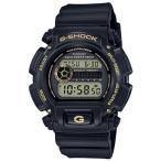 ショッピングShock G-SHOCK Gショック ジーショック カシオ CASIO デジタル 腕時計 ブラック ゴールド DW-9052GBX-1A9JF 国内正規モデル
